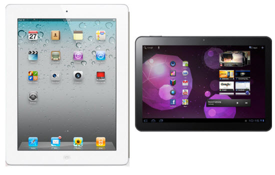 Apple iPad 2 Versus Samsung Galaxy Tab 10.1