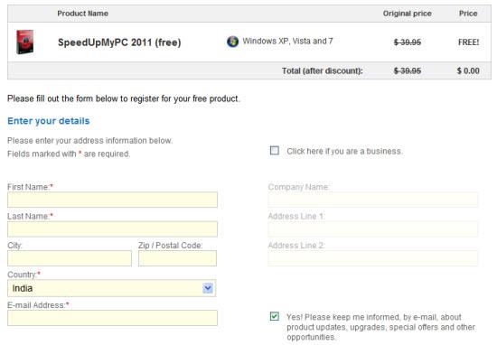 Download SpeedUpMyPC 2011 Free with License Key