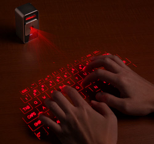 Magic Cube Virtual Laser Keyboard with Click Sound for iPad, iPhone