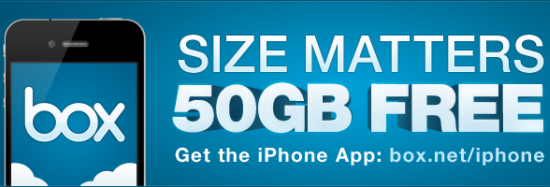 Get 50GB Free Space on Box.net for Life only iPad & iPhone Users