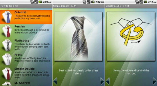 Free Android App to Teach you How To Tie a Tie