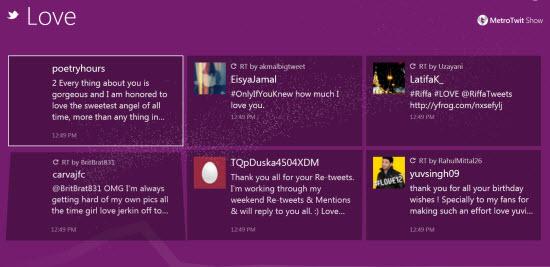 Metro Designed Twitter Client MetroTwit