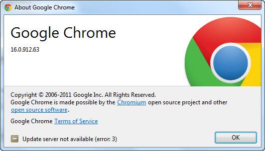 Google Chrome 16