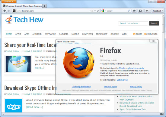 Firefox 9 Beta