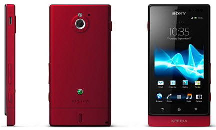 Sony Xperia Sola with Floating Touch and SmartTag