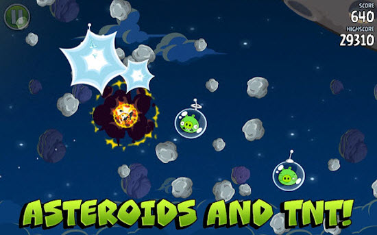 Angry Birds Space Available for Android and iOS