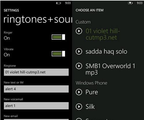 Set Ringtone in Windows Phone 7.5 Mango Phone