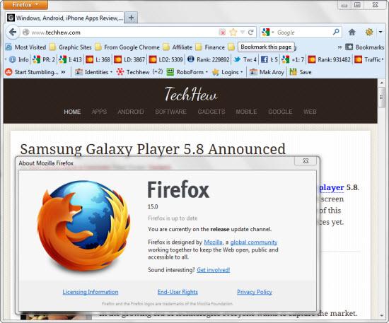 Download Firefox 15