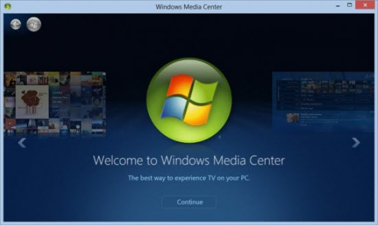 Get Windows 8 Media Centre For Free